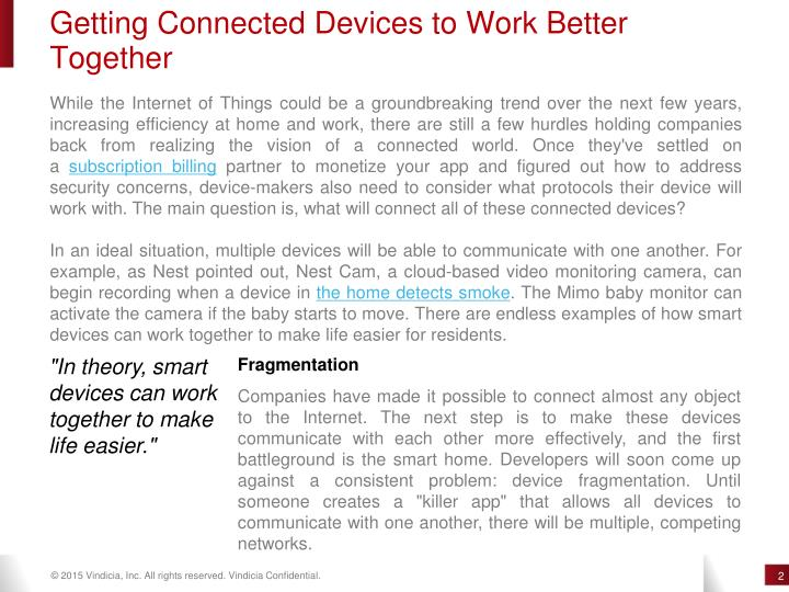 Getting Connected Devices to Work Better
