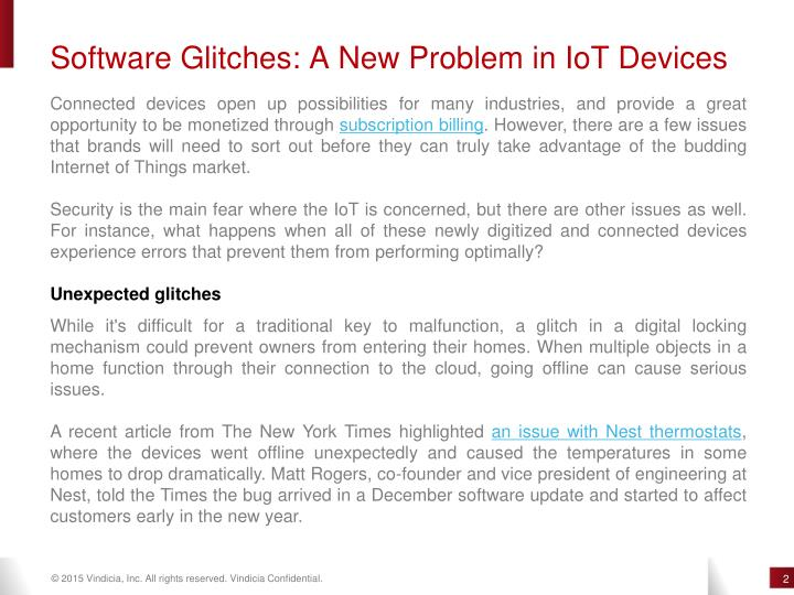 Software Glitches: A New Problem in IoT Devices