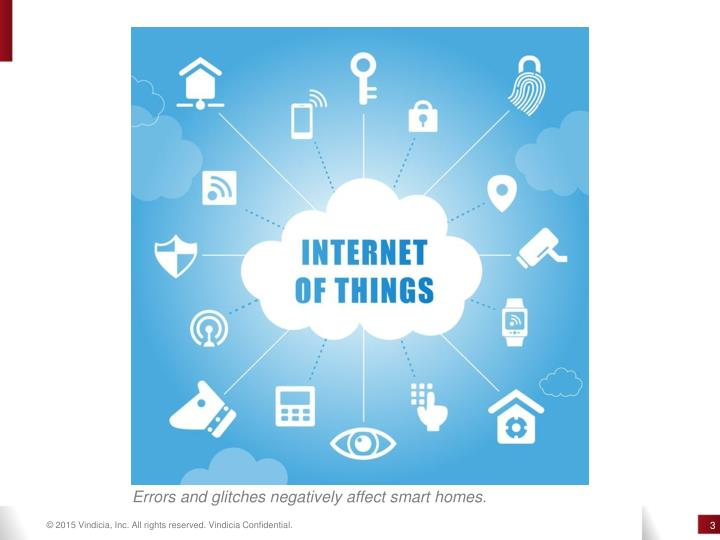 Errors and glitches negatively affect smart homes.