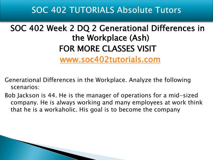 SOC 402 TUTORIALS Absolute Tutors
