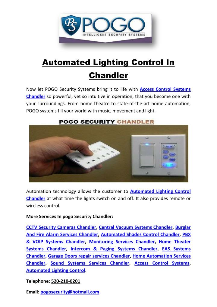 Automated Lighting Control In