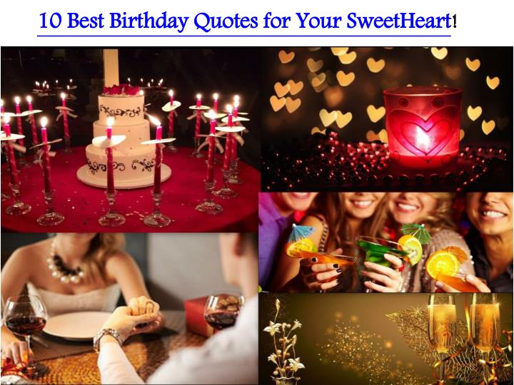 10 Best Birthday Quotes for Your SweetHeart
