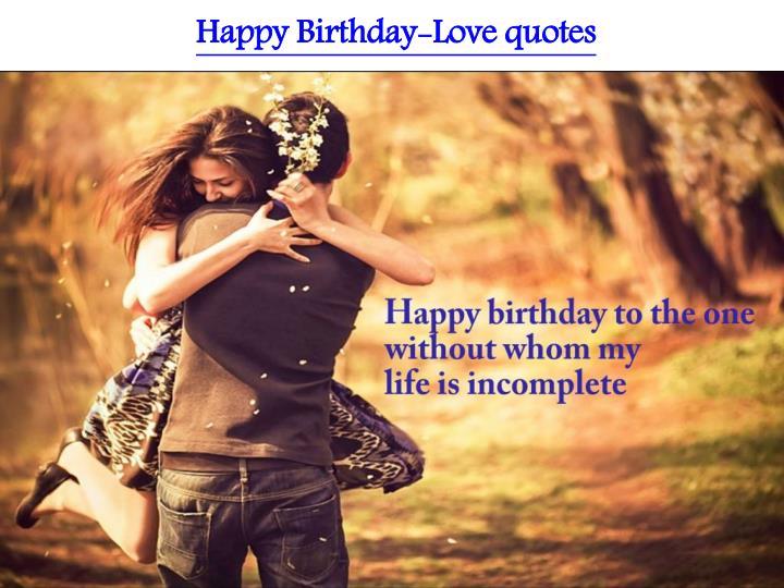 Happy Birthday-Love quotes