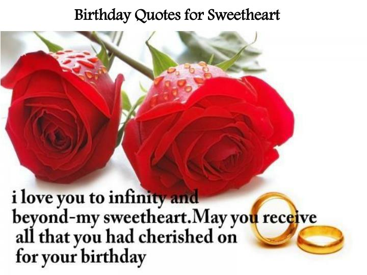 Birthday Quotes for Sweetheart