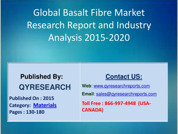 Global Basalt Fibre Market