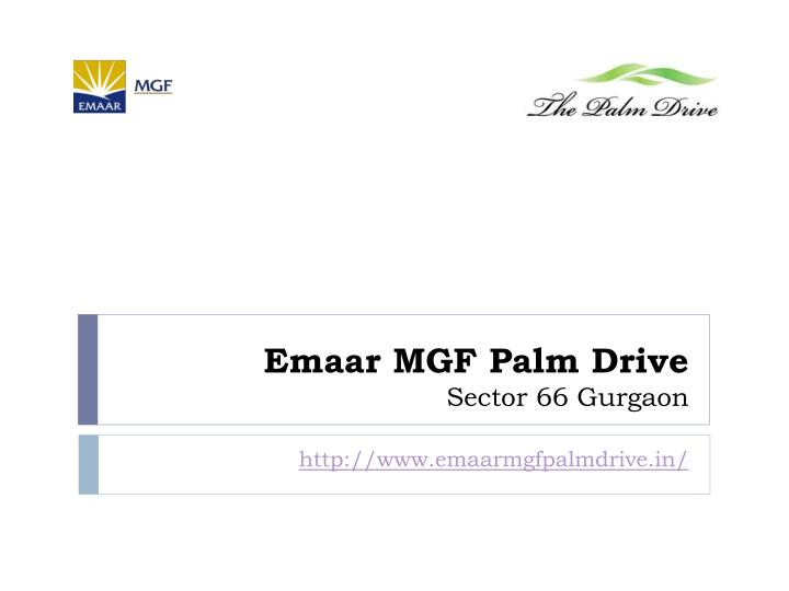 Emaar mgf palm drive sector 66 gurgaon