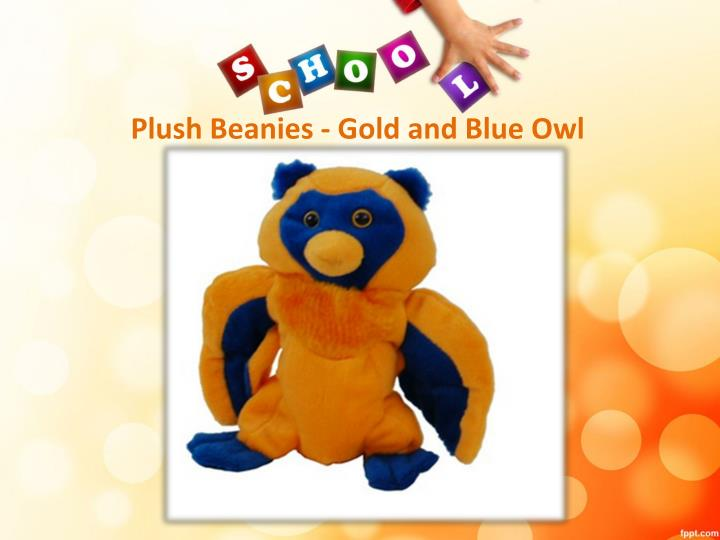 Plush Beanies - Gold and Blue Owl