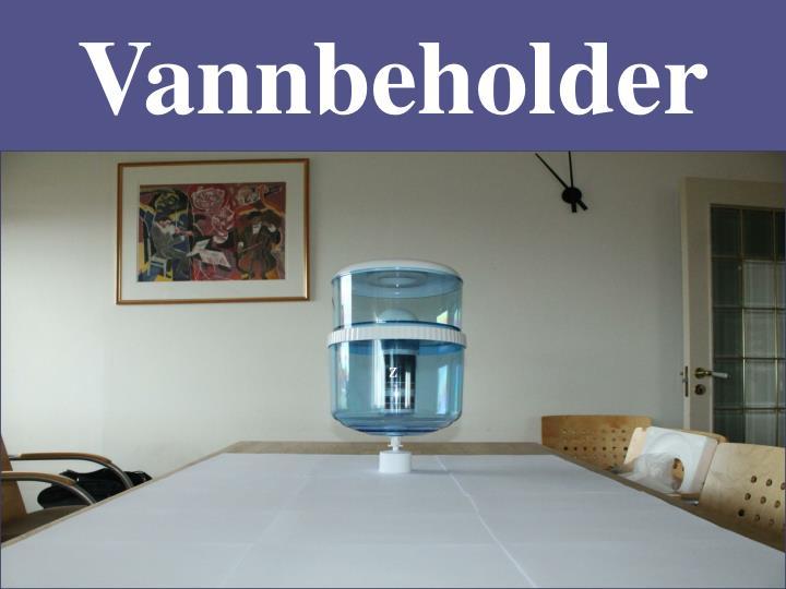 Vannbeholder