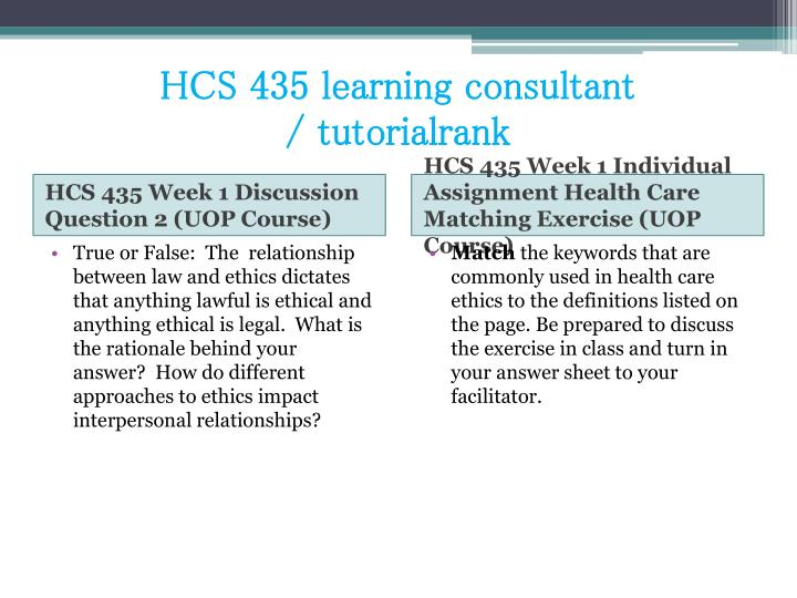 Hcs 435 learning consultant tutorialrank2