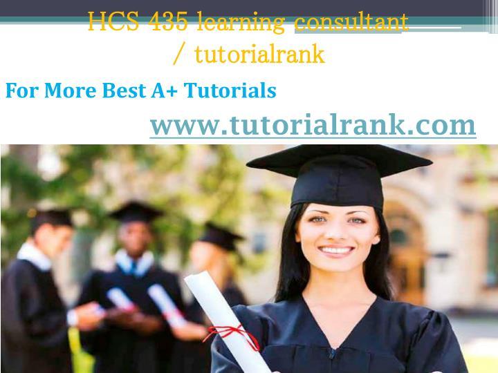 HCS 435 learning