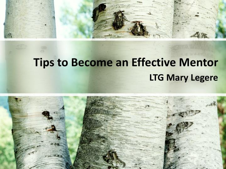 Tips to Become an Effective Mentor