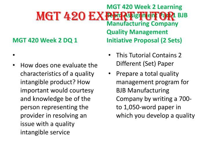 MGT 420