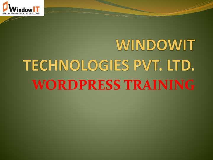 Windowit technologies pvt ltd