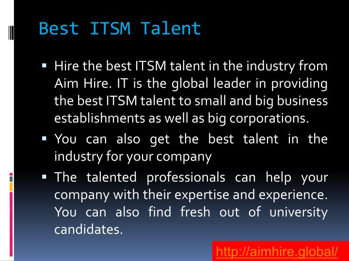 Best ITSM Talent