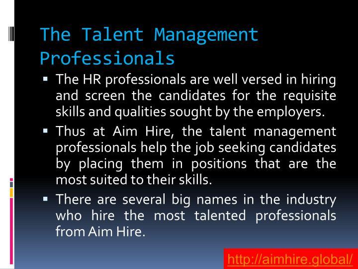The Talent Management