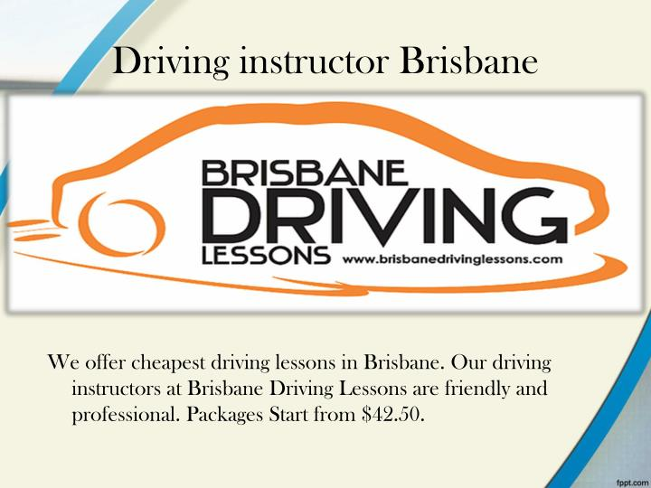 Driving instructor Brisbane
