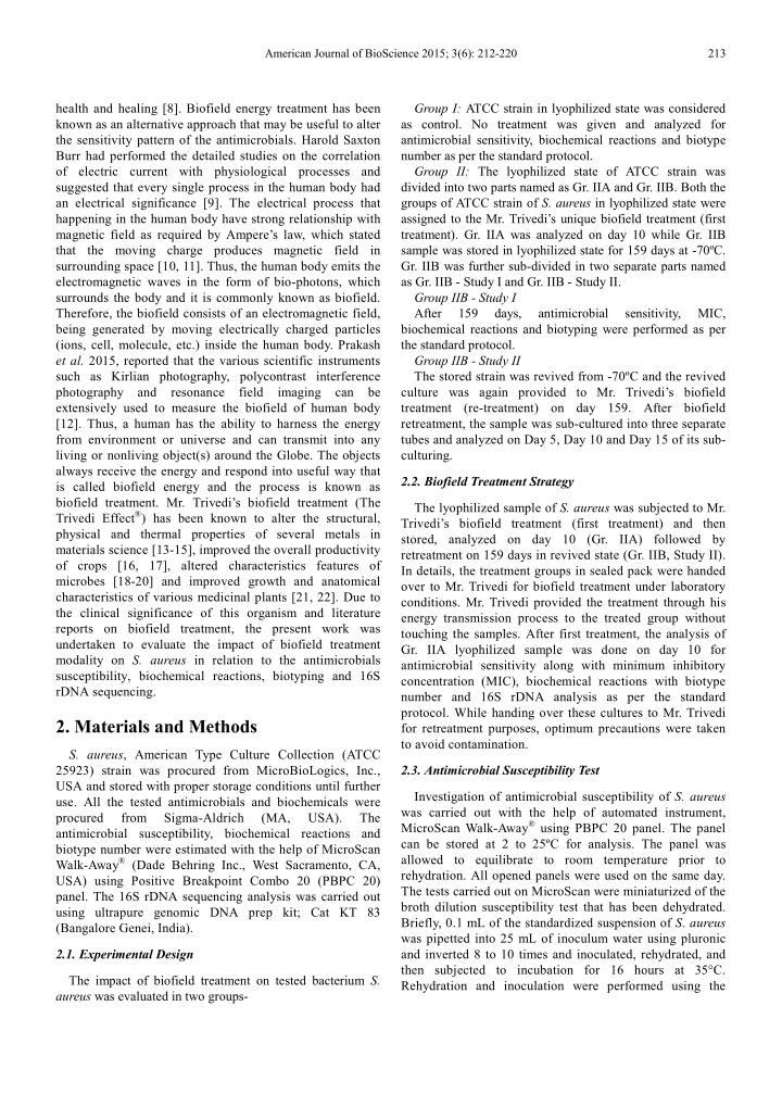 American Journal of BioScience 2015; 3(6): 212-220