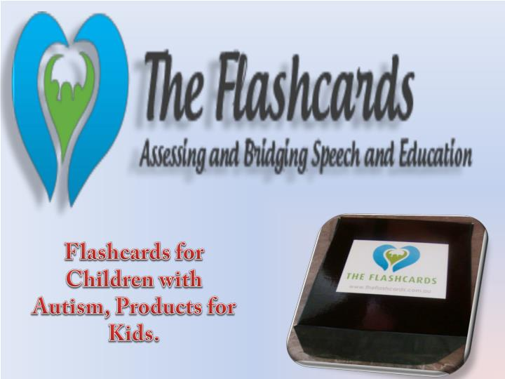 Flashcards for Children with Autism, Products for