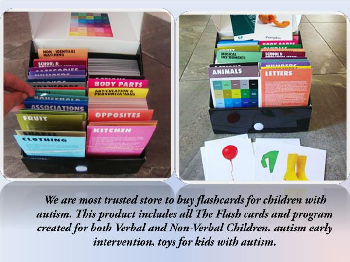 We are most trusted store to buy flashcards for children with autism. This product includes all The ...