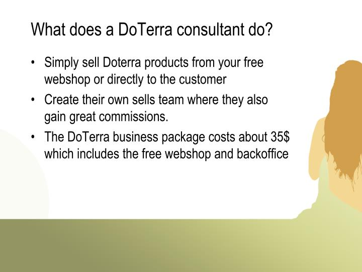 What does a doterra consultant do
