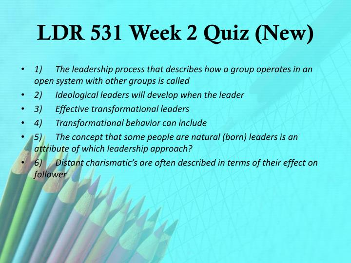 LDR 531 Week 2 Quiz (New)