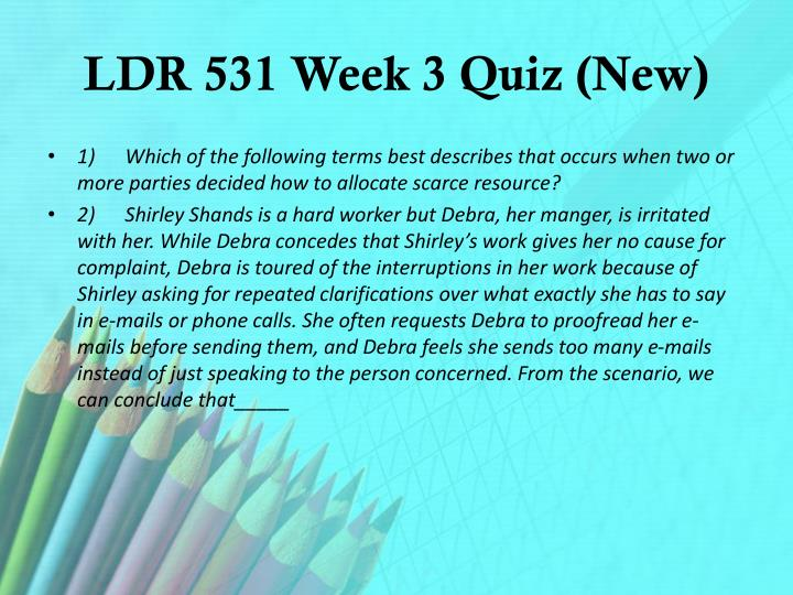 LDR 531 Week 3 Quiz (New)