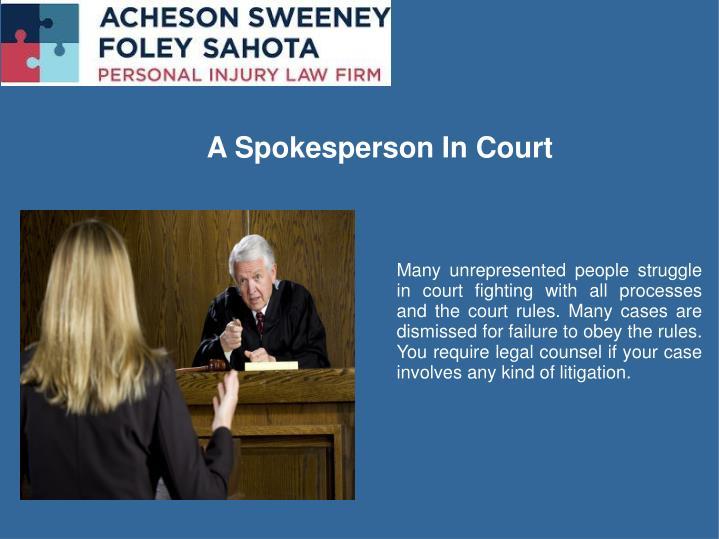 A Spokesperson In Court