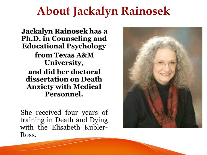 About Jackalyn Rainosek