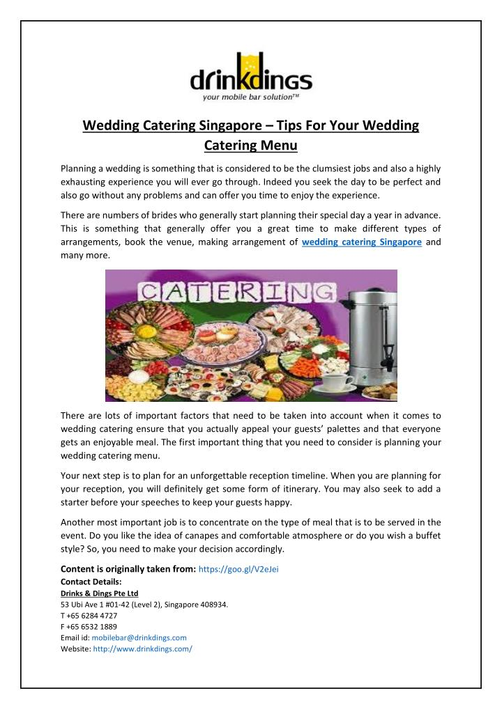 Wedding Catering Singapore