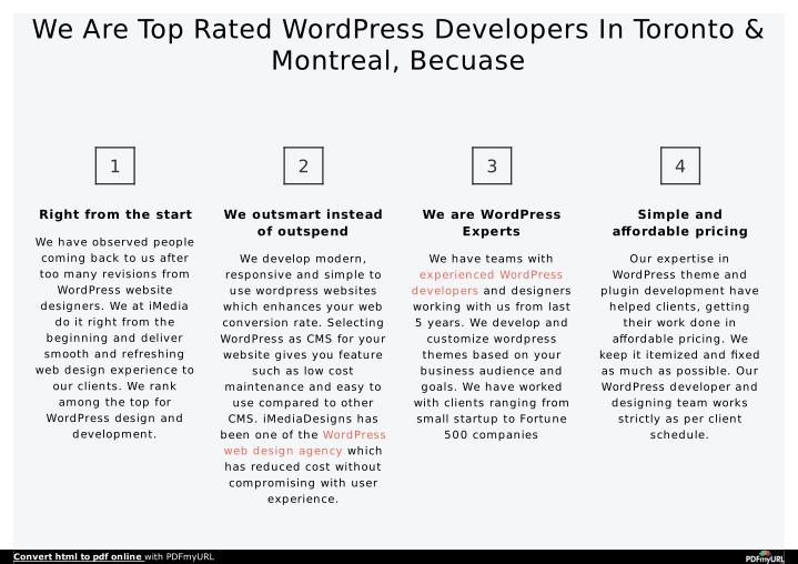 We Are Top Rated WordPress Developers In Toronto &