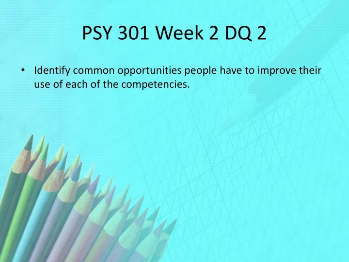 PSY 301 Week 2 DQ 2