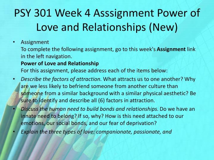 PSY 301 Week 4