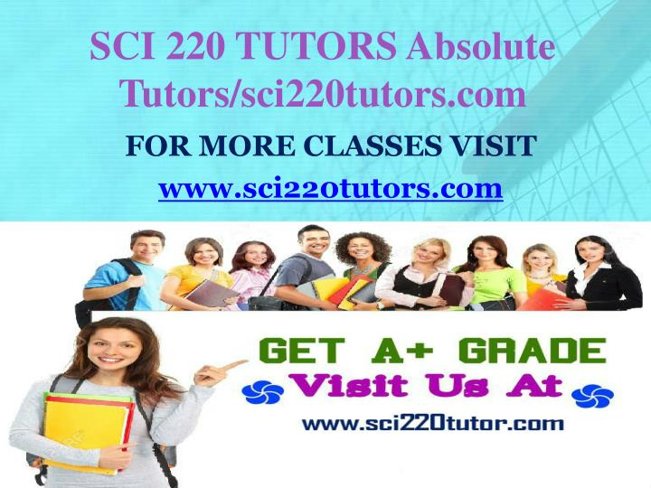 Sci 220 tutors absolute tutors sci220tutors com