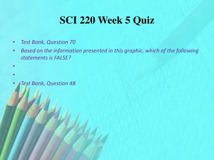 SCI 220 Week 5 Quiz