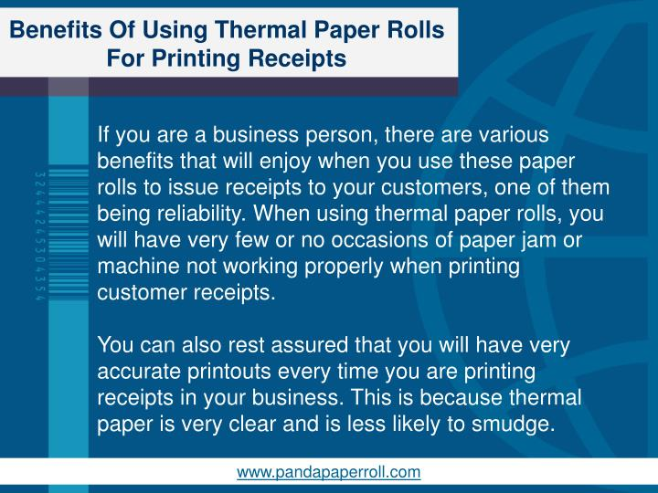 Benefits of using thermal paper rolls for printing receipts2