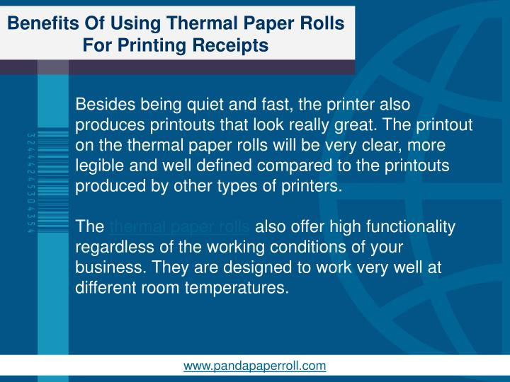 Benefits Of Using Thermal Paper Rolls For Printing Receipts