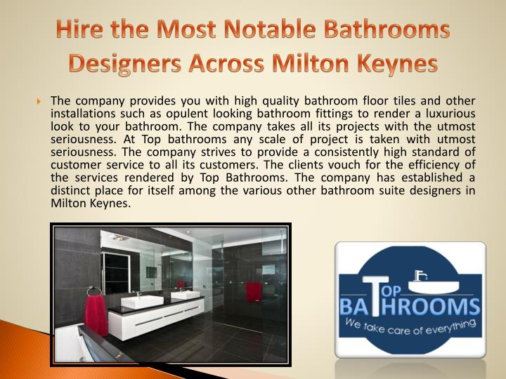 Hire the Most Notable Bathrooms Designers Across Milton Keynes