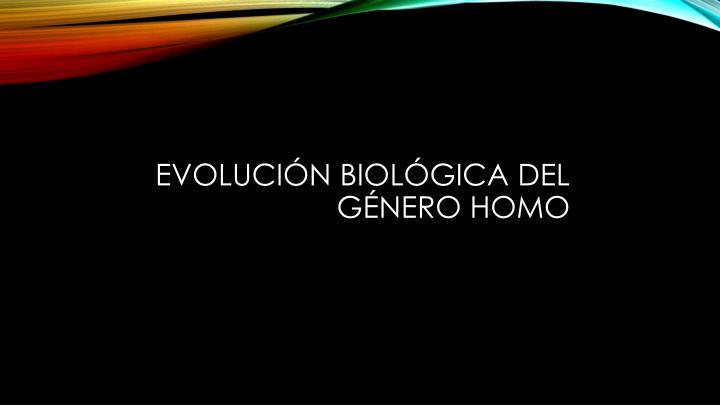 Evolución biológica del género Homo