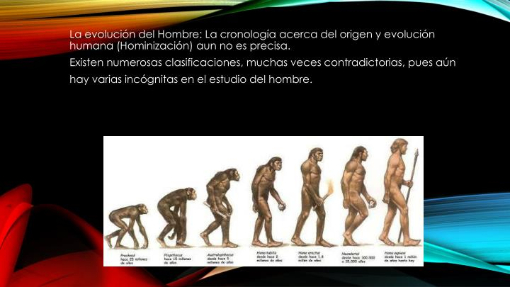 La evolución del Hombre: La cronología acerca del origen y evolución humana (