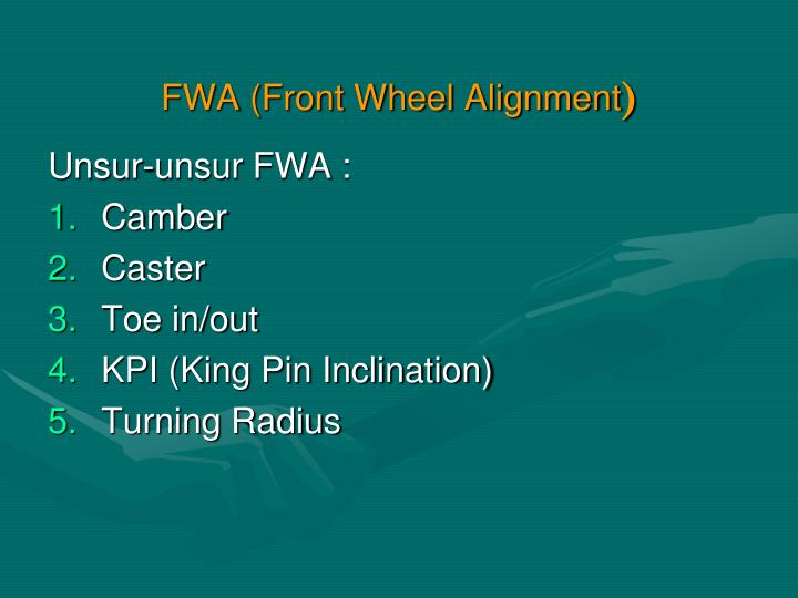 Fwa front wheel alignment