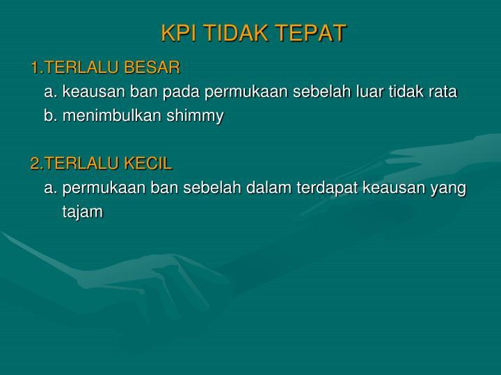 KPI TIDAK TEPAT