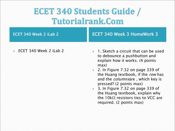 ECET 340 Students Guide /