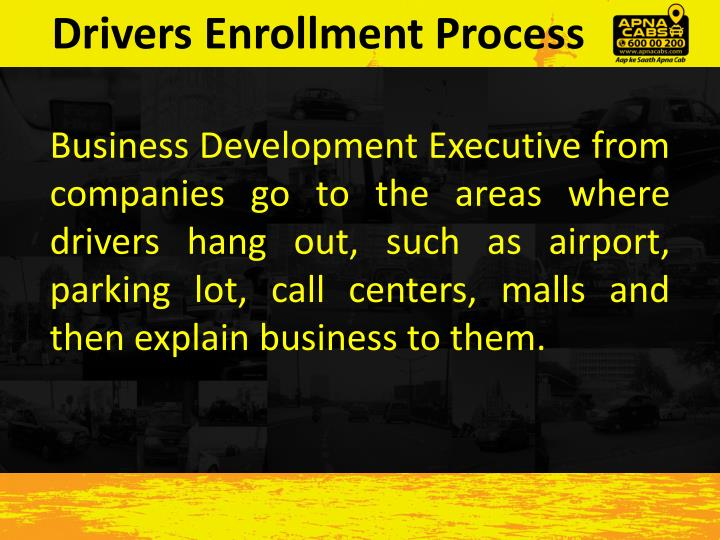 Drivers Enrollment Process