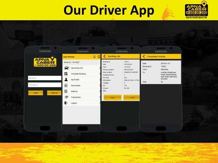Our Driver App