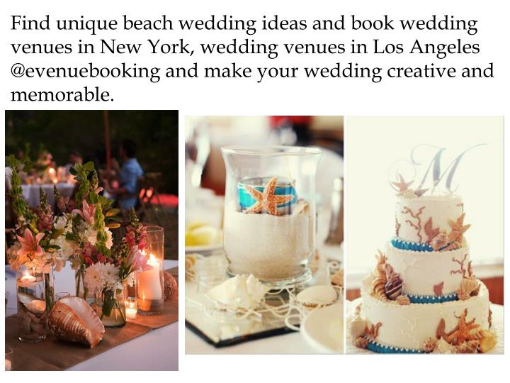 Ppt top ideas for beach weddings powerpoint presentation for Unusual wedding venues nyc