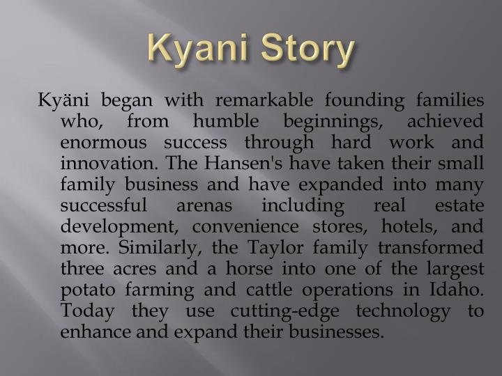 Kyani Story