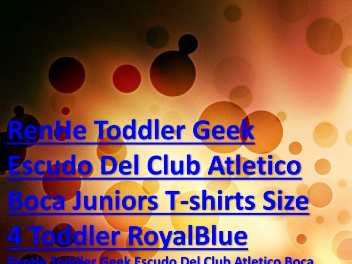 RenHe Toddler Geek Escudo Del Club Atletico Boca Juniors T-shirts Size ...