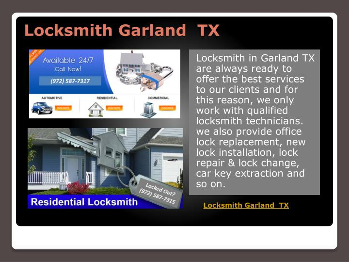 Locksmith garland tx