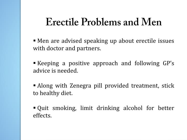 Erectile Problems and Men
