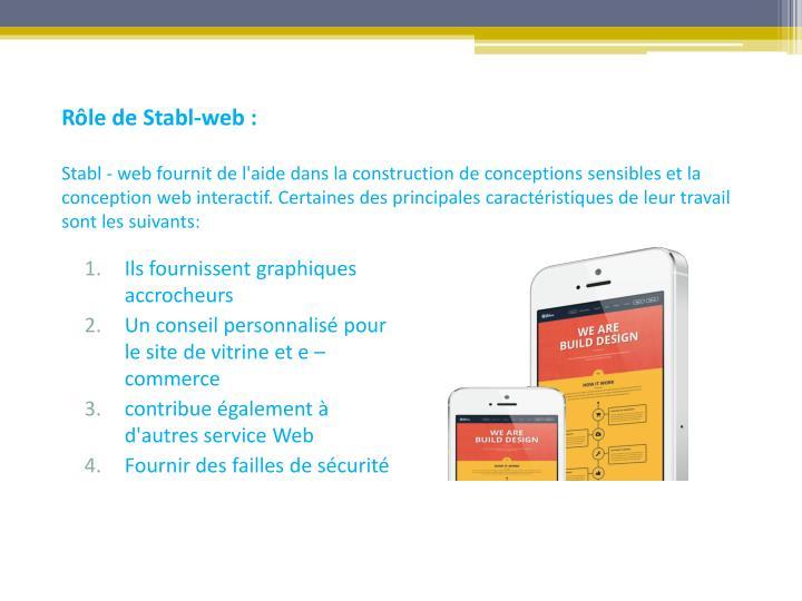 Rôle de Stabl-web :